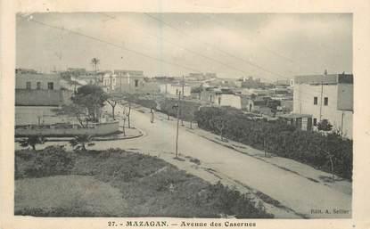 """CPA MAROC """"Mazagan, avenue des casernes"""""""