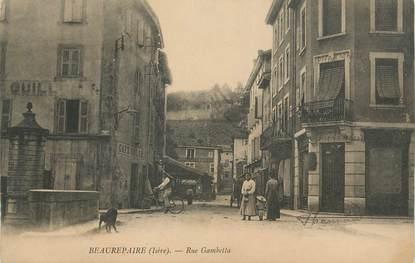 "CPA FRANCE 38 "" Beaurepaire, La rue Gambetta"""
