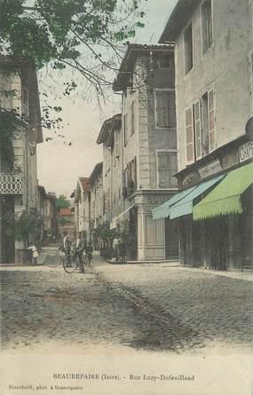 "CPA FRANCE 38 "" Beaurepaire, Rue Luzy Dufeuilland"""