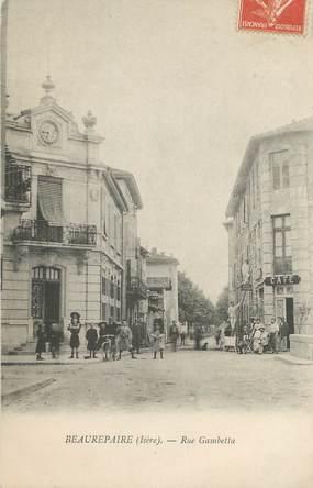 """CPA FRANCE 38 """" Beaurepaire, Rue Gambetta"""""""