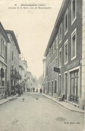 """CPA FRANCE 38 """" Beaurepaire, Avenue de la Gare"""""""