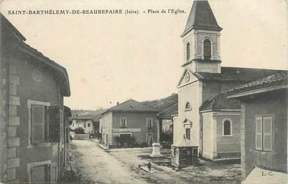 """CPA FRANCE 38 """" St Barthélémy de Beaurepaire, La place de l'église"""""""