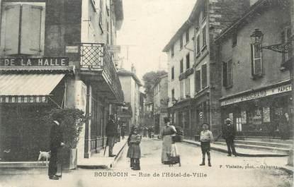 """CPA FRANCE 38 """" Bourgoin, Rue de l'Hôtel de Ville"""""""