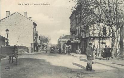 """CPA FRANCE 38 """" Bourgoin, Avenue de la gare"""""""