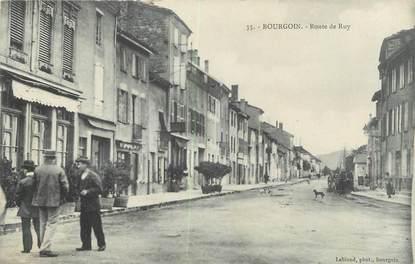 """CPA FRANCE 38 """" Bourgoin, Route de Ruy"""""""
