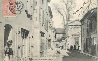 """CPA FRANCE 38 """" Bourgoin, Rue Président Carnot et le Tribunal"""""""