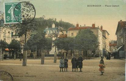 """CPA FRANCE 38 """" Bourgoin, Place Carnot"""""""