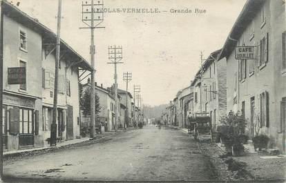 "CPA FRANCE 38 "" Nivolas Vermelle, Grande rue"""