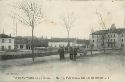 """CPA FRANCE 38 """" Nivolas Vermelle, Mairie, patronage, écoles, hôpitaux 1915"""""""