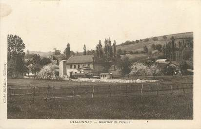 """CPA FRANCE 38 """" Gillonnay, Quartier de l'usine"""""""