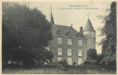 """CPA FRANCE 38 """" Gillonnay, Le Château de Pointière """""""