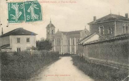 """CPA FRANCE 38 """" Nantoin, Vue de l'église"""""""