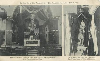 """CPA FRANCE 38 """" La Côte St André, La paroisse, fête de Jeanne d'Arc le 04 juillet 1909"""""""