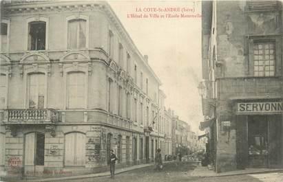 """CPA FRANCE 38 """" La Côte St André, L'Hôtel de Ville et l'école maternelle"""""""