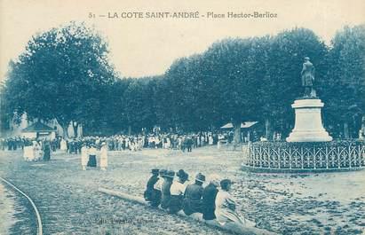 """CPA FRANCE 38 """" La Côte St André, La Place Hector Berlioz"""""""