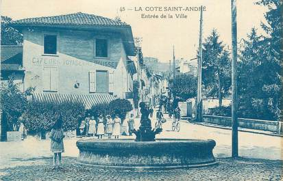 """CPA FRANCE 38 """" La Côte St André, Entrée de la ville"""""""