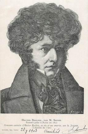 """CPA FRANCE 38 """" La Côte St André, Portrait de Hector Berlioz"""""""