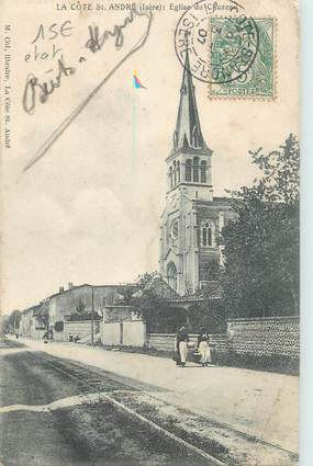 """CPA FRANCE 38 """" La Côte St André, Eglise du Chuzeau"""""""
