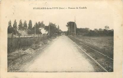 """CPA FRANCE 38 """" St Hilaire de la Côte, L'église et le panorama de la plaine"""""""