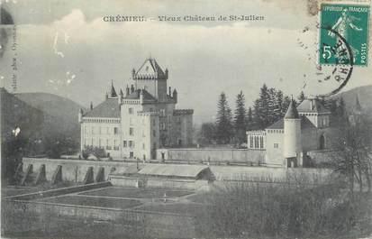 """CPA FRANCE 38 """" Crémieu, Vieux château de St Julien"""""""