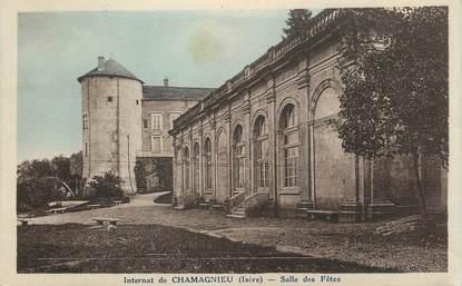 """CPA FRANCE 38 """" Chamagnieu, L'internat, la salle des fêtes'"""