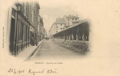 """CPA FRANCE 38 """" Crémieu, Quartier des Halles"""""""