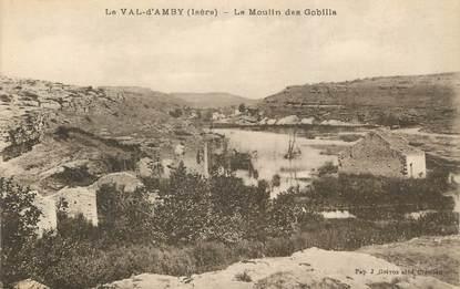"""CPA FRANCE 38 """" Hières sur Amby, Le Val d'Amby, Le moulin des Gobiilla"""""""