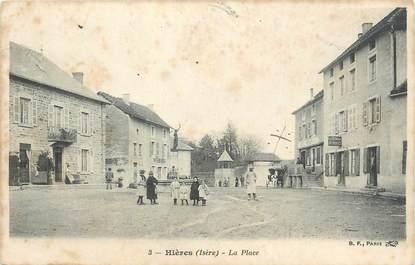 """CPA FRANCE 38 """" Hières, La place"""""""