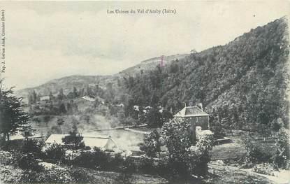 """CPA FRANCE 38 """" Hières, Les usines du Val d'Amby"""""""