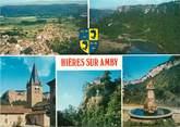 """38 Isere CPSM FRANCE 38 """" Hières sur Amby, Vues"""""""