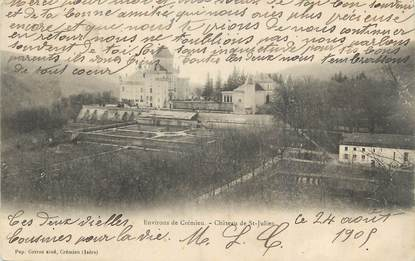 """CPA FRANCE 38 """" Environs de Crémieu, Le château de St Julien"""""""