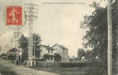 """CPA FRANCE 38 """" Soleymieu - Sablonnières, La gare"""""""