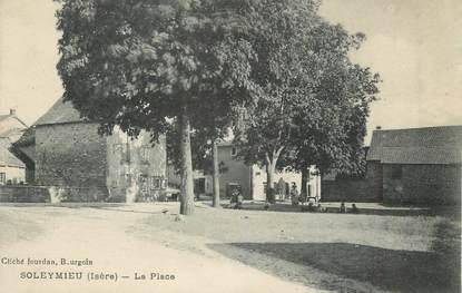 """CPA FRANCE 38 """" Soleymieu, La place"""""""