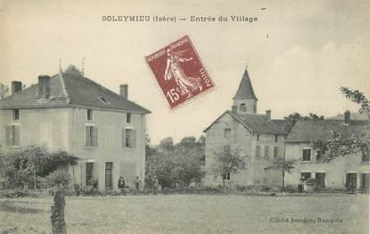 """CPA FRANCE 38 """" Soleymieu, Entrée du village"""""""