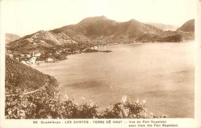 """CPA GUADELOUPE """"Saintes, Terre de Haut, vue du Fort Napoléon"""""""