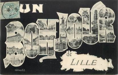 """CPA  FRANCE 59 """"Un Bonjour de Lille """""""