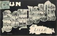 """59 Nord CPA  FRANCE 59 """"Un Bonjour de Lille """""""