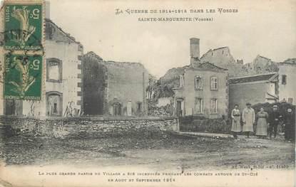 """CPA FRANCE 88 """" Ste Marguerite, Le village incendié"""" / GUERRE DE 1914-1915"""