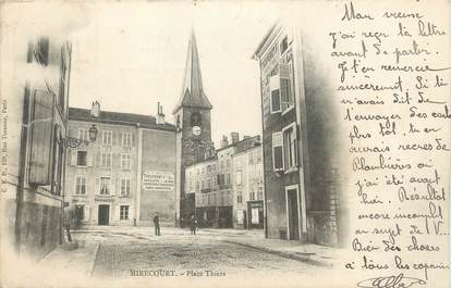 """CPA FRANCE 88 """"Mirecourt, Place Thiers"""""""