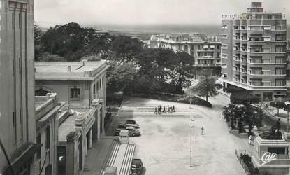 """CPSM ALGERIE """"Mostaganem, Place de l'Hotel de ville"""""""