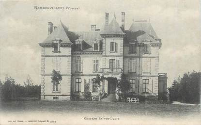 """CPA FRANCE 88 """"Rambervillers, Château Ste Lucie"""""""