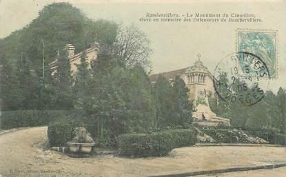 """CPA FRANCE 88 """"Rambervillers, Le monument aux morts du cimetière"""""""