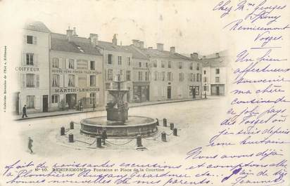 "CPA FRANCE 88 ""Remiremont, Fontaine et Place de la Courtine"""