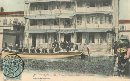 """CPA  FRANCE 83 """"Toulon, prise de commandement de l'Amiral"""""""