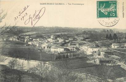 """CPA FRANCE 87 """"St Priest Taurion, Vue panoramique"""""""