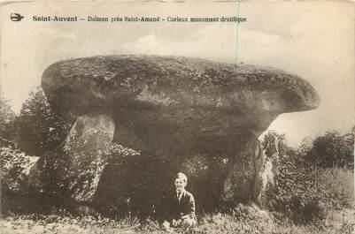 """CPA FRANCE 87 """" St Auvent, Dolmen près de St Amand """" / DOLMEN"""