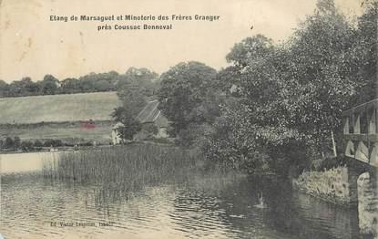"""CPA FRANCE 87 """"Près de Coussac Bonneval, L'étang de Marsaguet et Minoterie des Frères Granger"""""""