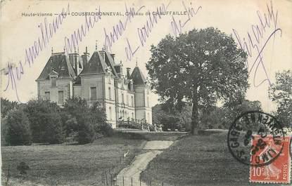 """CPA FRANCE 87 """"Coussac Bonneval, Le Château de Chauffaille'"""