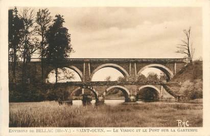 """CPA FRANCE 87 """" St Ouen, Le viaduc et le pont sur la Gartempe"""""""