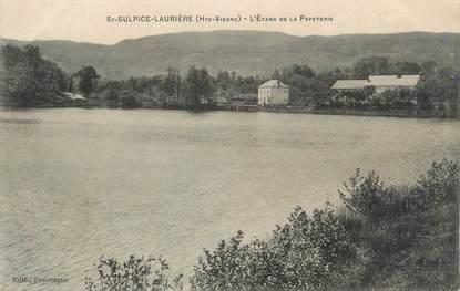 """CPA FRANCE 87 """" St Sulpice - Laurière, L'étang de la Papeterie"""""""